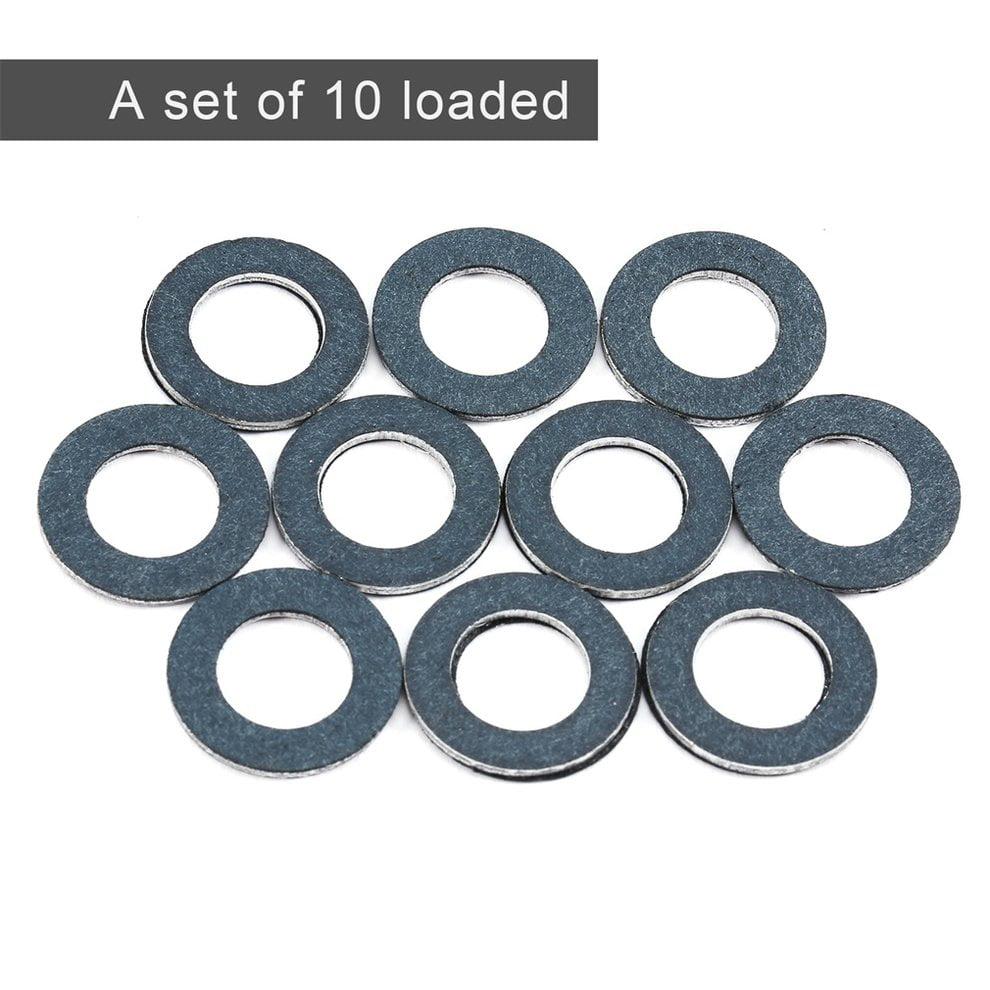 10pcs Set Car Washers For Toyota Lexus Oil Pan Drain Plug Seal Gasket Rings Part