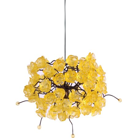 Nura Lights Citrus Gold Rosettes Pendant Hanging Light