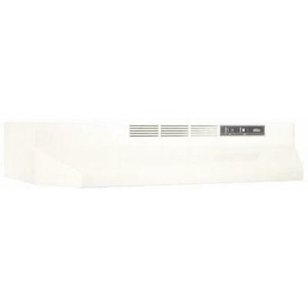 - BROAN-NUTONE 413602 36 in. Non-Ducted Under Cabinet Range Hood, Bisque
