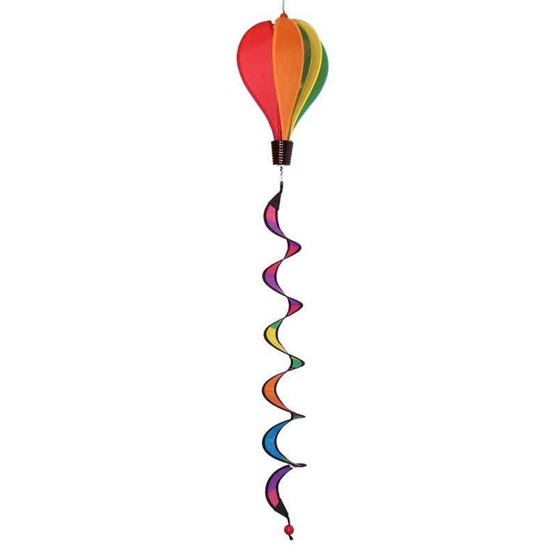 In the Breeze Mini Rainbow Hot Air Balloon Wind Spinner by Gold Crest Distributing LLC