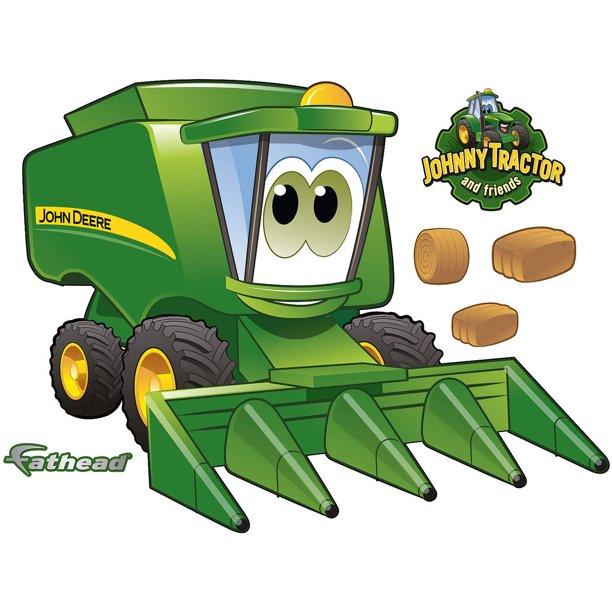 Fathead John Deere Cartoon Tractor Teammate Walmart Com Walmart Com