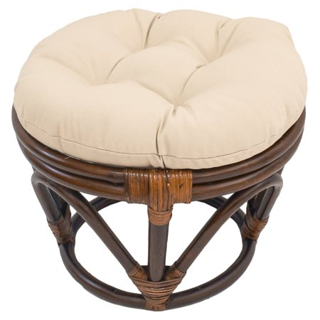 International Caravan Papasan Stool with Solid Cushion