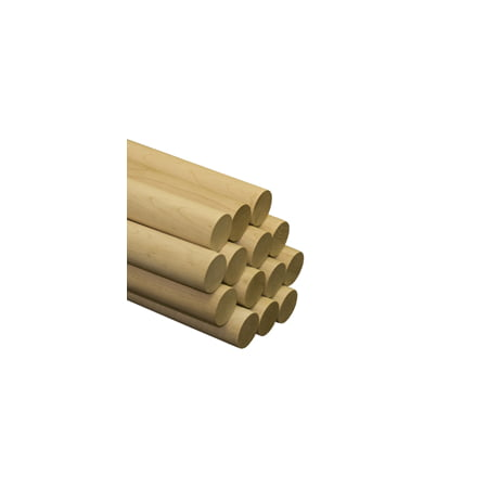 "5 Pcs 2"" x 36"" Maple Dowels A quality dowel begins with quality lumber. Our dowels are made from select Birch and Maple."