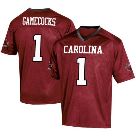 Men's Russell #1 Garnet South Carolina Gamecocks Fashion Football Jersey - Halloween Bar Events South Jersey