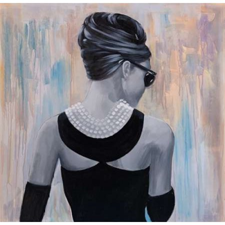 Audrey Hepburn Abstract Style Back View Poster Print by Atelier B Art Studio (12 x 12)