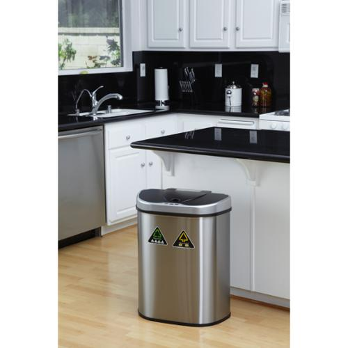 Recycling Infrared Touchless Automatic Trash Can