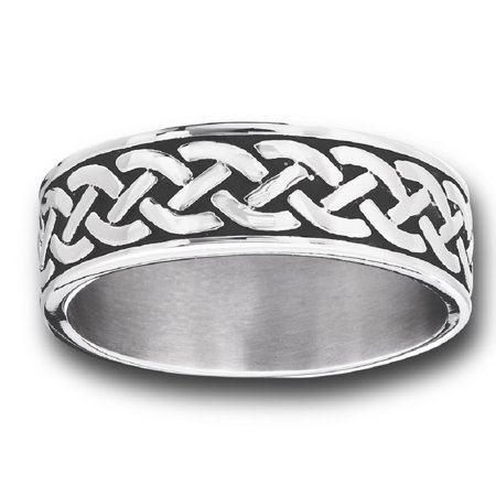 New Men Women Stainless Steel Celtic Knot Braid Wedding Band Ring Sizes -