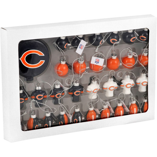 Forever Collectables NFL Christmas Ornament Set, Chicago Bears, 31pc