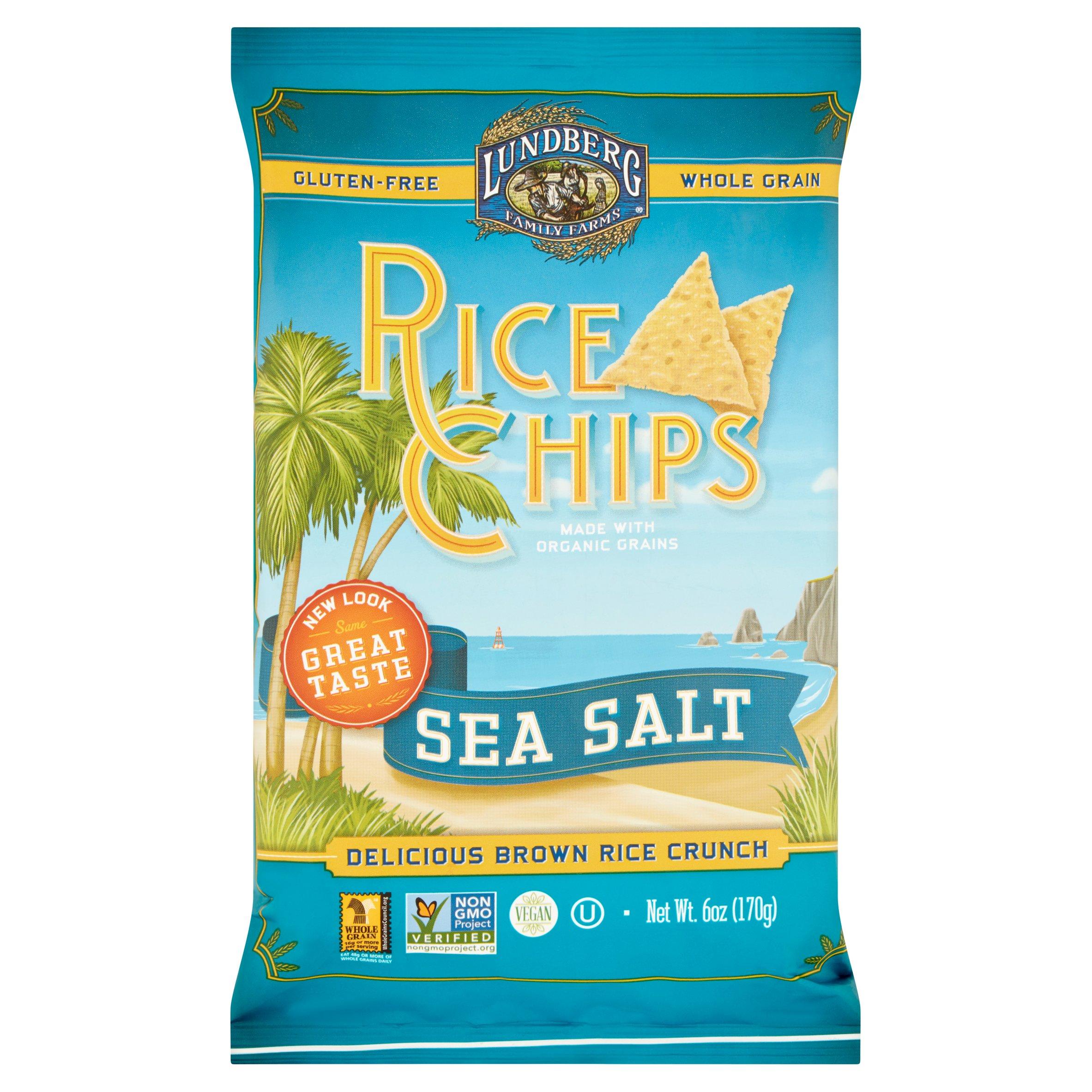 Lundberg Family Farms? Sea Salt Rice Chips 6 oz. Bag