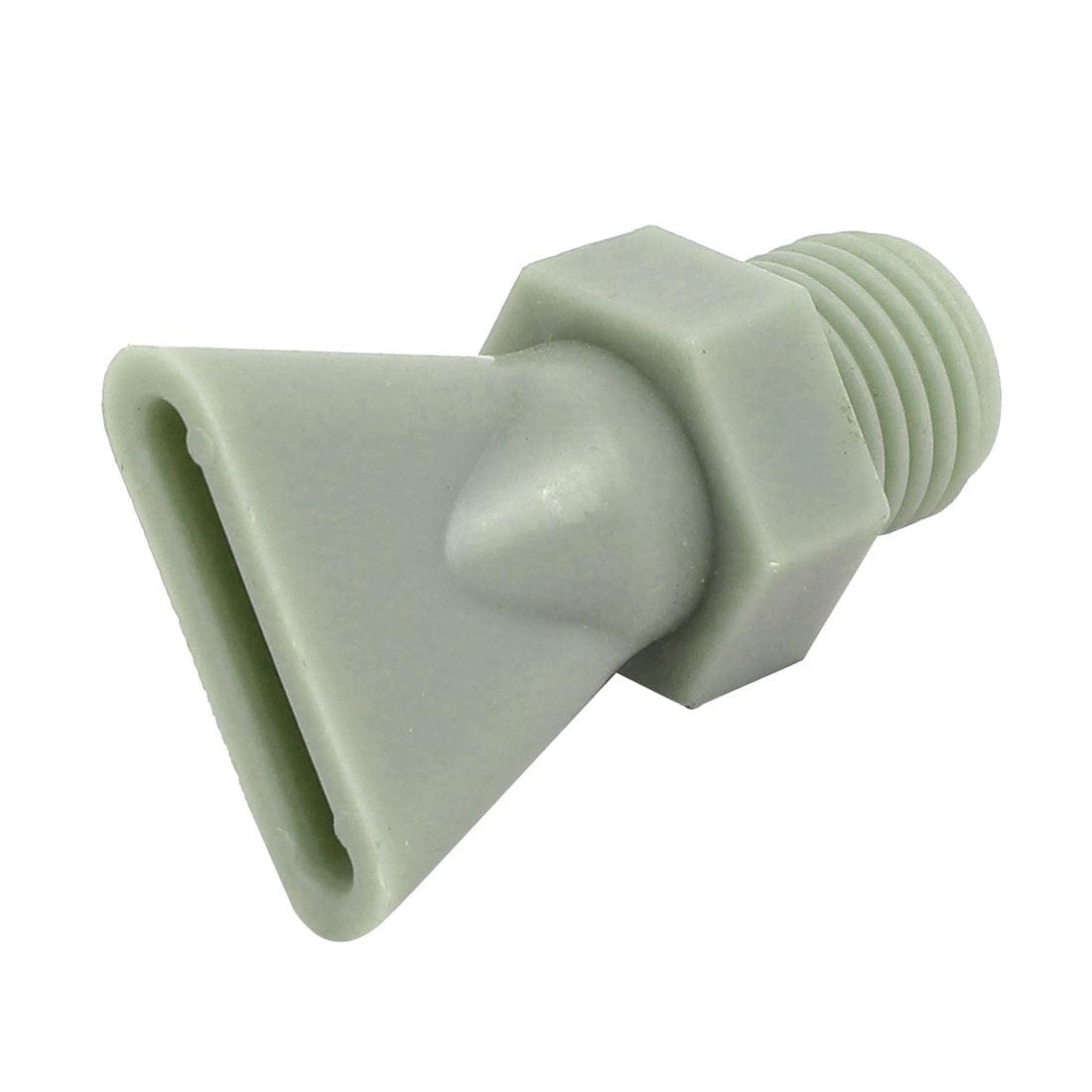 1/4BSP Male Thread Plastic Water Spout Sprayer Flat Jet Nozzle Gray