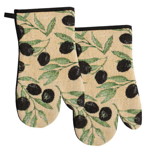Sweet Home Collection Oven Mitt (Set of 2)