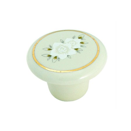 Amerock 69128 Porcelain Knob Almond with Flower