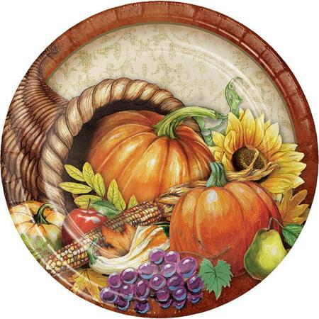Bountiful Thanksgiving Dinner Plate, 8 ct