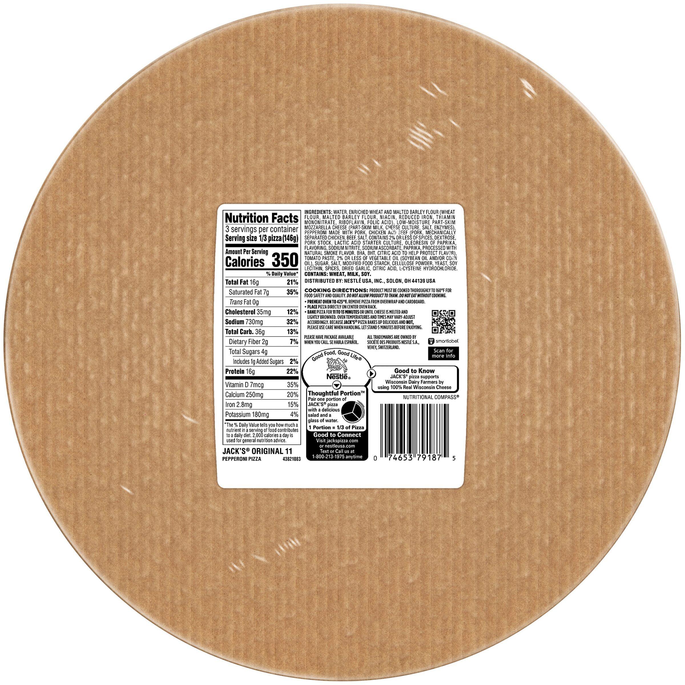 Jacks Original Thin Crust Pepperoni Pizza 154 Oz Walmartcom