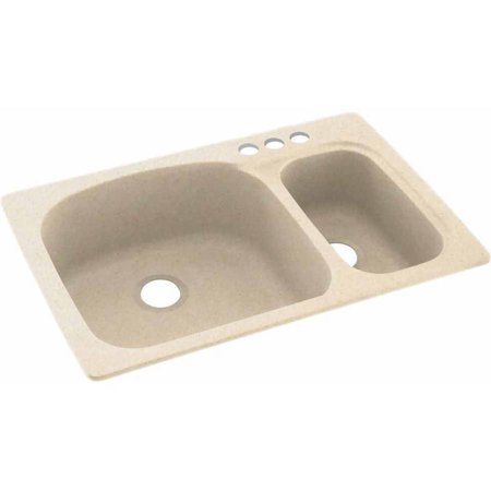 Swan Solid Surface Kitchen Sink 33 X 22 With 3 Faucet