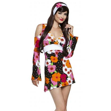 Lip Service Sexy Go Retro Hippie Dancer Adult Halloween - Go Go Dancer Halloween Costumes
