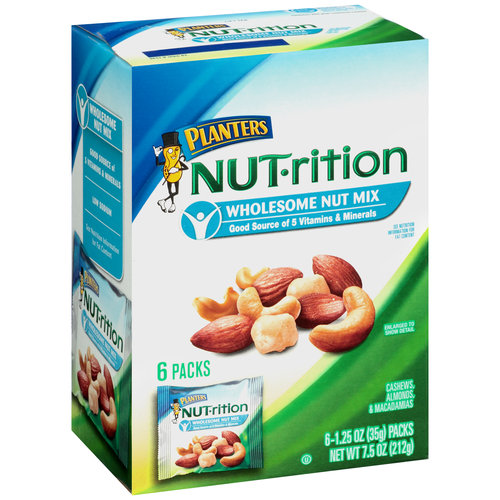 Planters NUT-rition Wholesome Nut Mix, 1.25 oz, 6 count