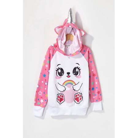 Urban Kids Youth Girls Caticorn Star Character Popover Hoodie - image 2 of 2