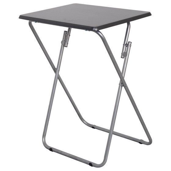 Folding Tv And Snack Tray Table Black Walmart Com