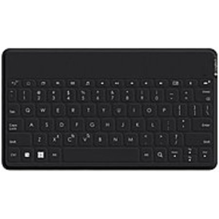 Refurbished Logitech Ultra-portable, Stand-alone Keyboard - Wireless Connectivity - Bluetooth - Compatible with Tablet, Smartphone - QWERTY Keys Layout -