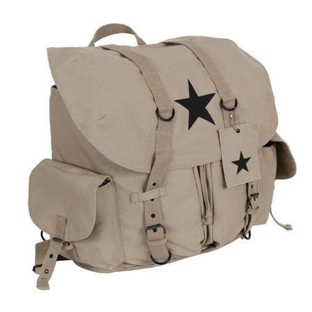 c8f3d969b Rothco - Rothco Vintage Weekender Canvas Backpack with Star - Walmart.com