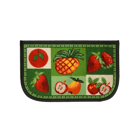 Mixed Fruit 18x30 D Shape Kitchen Rug, Area Rug, Mat, Carpet, Non-Skid Latex Back