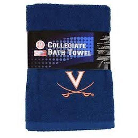 NCAA Licensed Team Logo Embroidered Bath Towel (Virginia Cavaliers) By Northwest (Virginia Cavaliers Embroidered Leather)