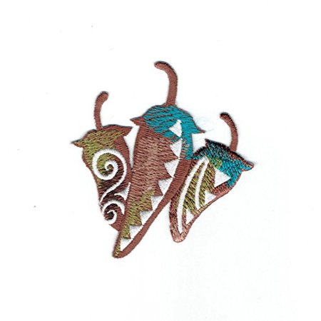 Three Chili Peppers - Jalapeno Pepper - Southwest style - Iron on Applique - Embroidered Patch