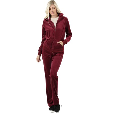 utterly stylish purchase authentic elegant shoes Sweatsuit Jogging Tracksuit Velour Set for Women Zip Up 2 Piece Hoodie  Sweater & Sweatpants Plus Size   Black Blue Burgundy Charcoal Olive Rust    ...