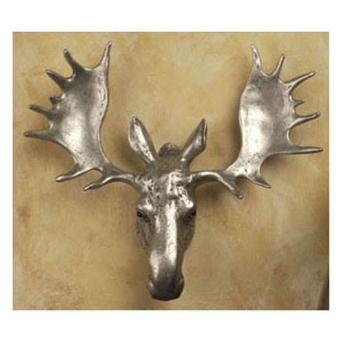 Moose-lg knob (Antique (Rust Moose)