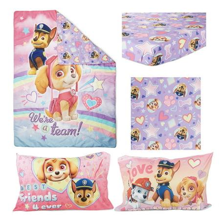 Paw Patrol Skye 4 Piece Toddler Bed Set