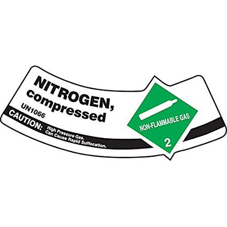 ACCUFORM SIGNS MCSLNIG CYL SHOULDER LABEL  NITROGEN  2X5.25  ADH VNL