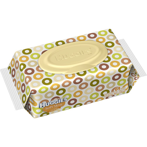 Huggies - Soft Skin Shea Butter Baby Wipes, Count 64, Travel Pack