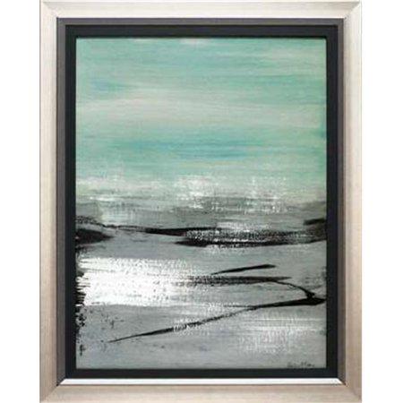 North American Art N1802 24 x 30 in. Beach I Framed Beach Landscape Art