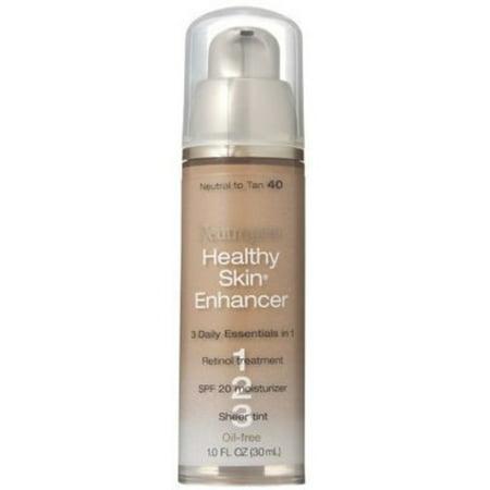 Neutrogena Healthy Skin Enhancer Tinted Moisturizer, Neutral to Tan [40], 1 oz (Pack of 2)