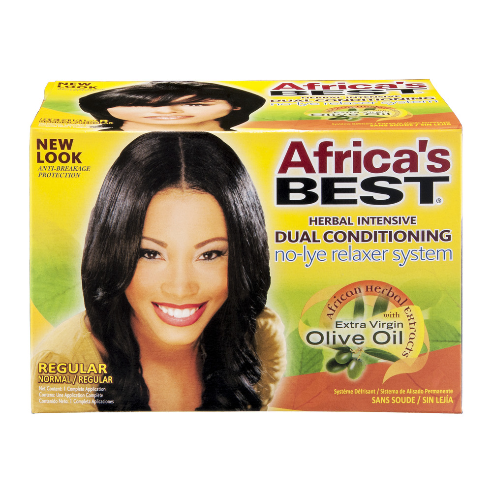 Africa's Best Dual Conditioning No-Lye Relaxer System Regular, 1.0 CT