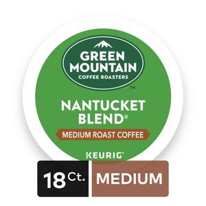 Green Mountain Coffee Roasters Nantucket Blend Keurig Single-Serve K-Cup Pods, Medium Roast Coffee, 18 Count