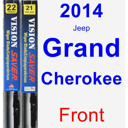 2014 Jeep Grand Cherokee Wiper Blade Set/Kit (Front) (2 Blades) - Vision