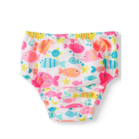Swim Time Reuseable Swim Diaper (Baby Girls) (Toddler Girls Swim Skirt)