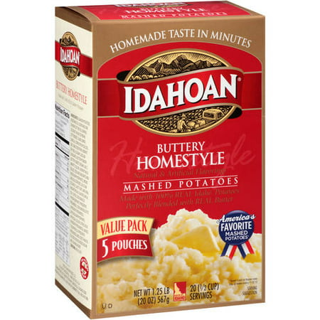 (4 Pack) Idahoan Buttery Homestyle Mashed Potatoes, 5 ct, 20 oz (Halloween Mashed Potato Recipes)