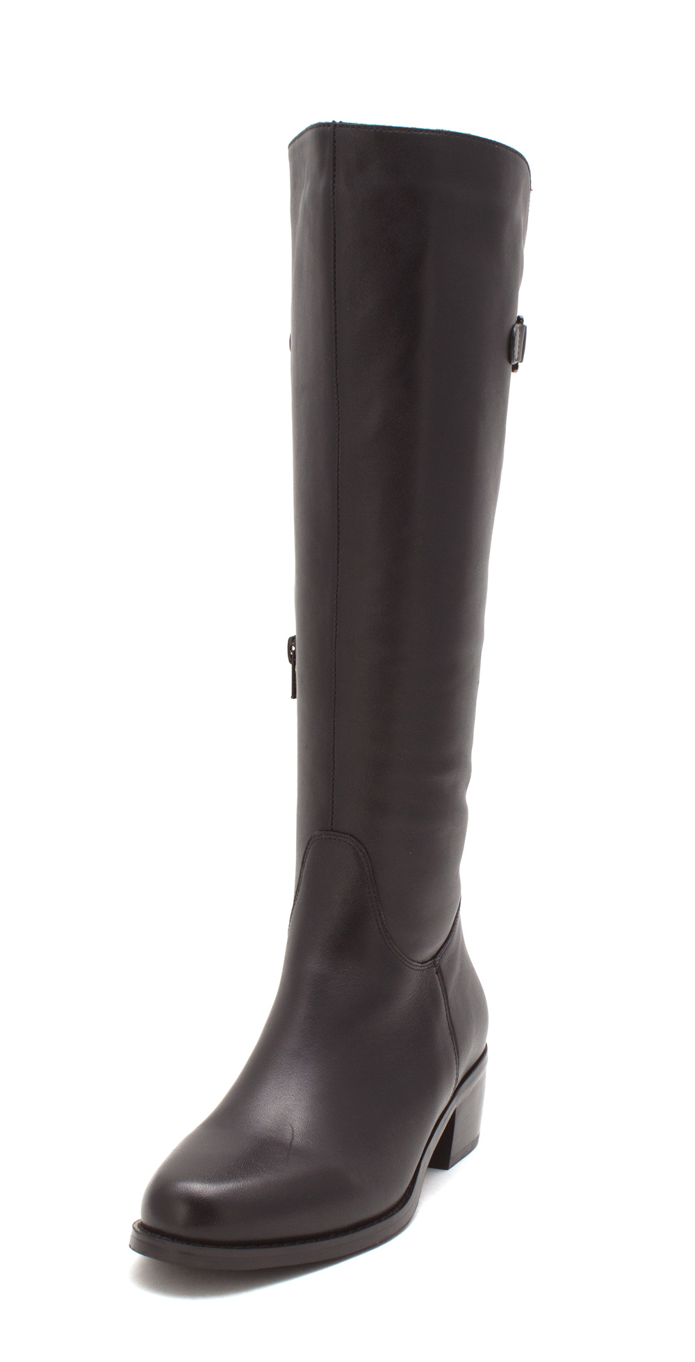 VANELi Womens Vail Leather Almond Toe Knee High Fashion Boots, Black, Size 8.0