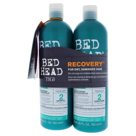 Bed Head Urban Antidotes Recovery Kit by TIGI for Unisex - 2 Pc Kit 25.36 oz Shampoo, 25.36 oz