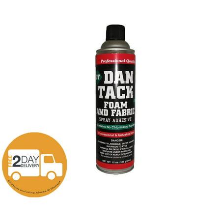 3 x Dan Tack 2012 Foam & Fabric Spray Adhesive or Glue Can 12 oz (3 (Best Glue For Fabric To Foam)