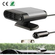 Jorlo 12V Portable Car Heater,Automobile Windscreen Fan, Windshield Car Heater, Cooling Car Fan, Fast Heating Defrost Defogger, Plug in Cigarette Lighter
