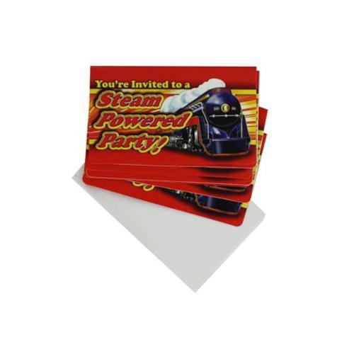 Railroad theme party invitations - Case of 72