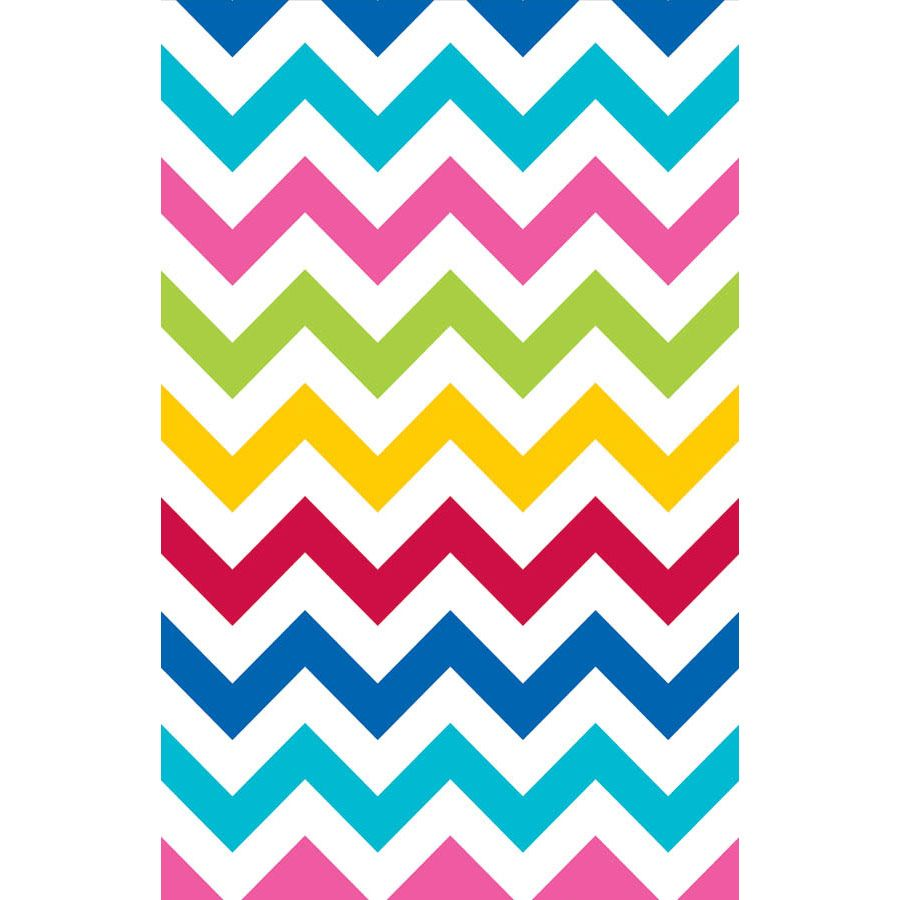 Amscan BB571383 Chevron Multi Color Table Cover -Each