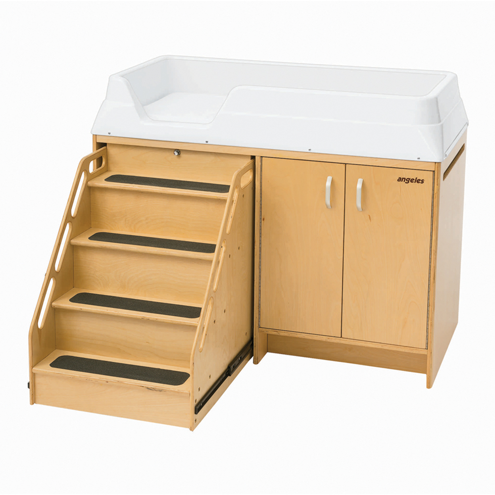 Angeles Changing Table with Locking Stairs by Angeles