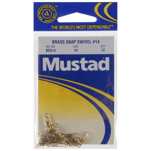 Mustad Brass Snap Swivel, #14
