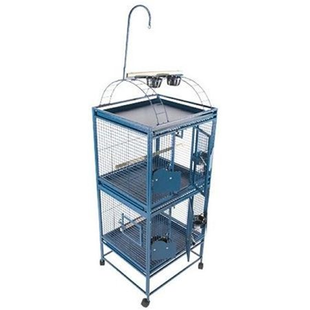 Double Stack Cage with Play Top - Small-Platinum