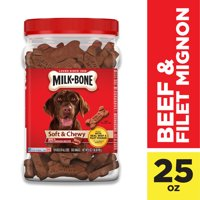 Milk-Bone Soft & Chewy Beef & Filet Mignon Recipe Dog Treats (Various Sizes)